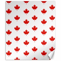 Maple Leaf Canada Emblem Country Canvas 20  X 24