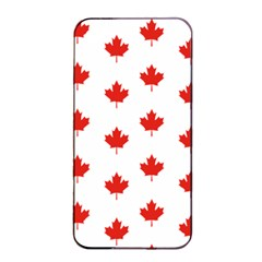 Maple Leaf Canada Emblem Country Apple Iphone 4/4s Seamless Case (black)