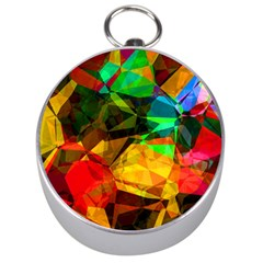 Color Abstract Polygon Silver Compasses