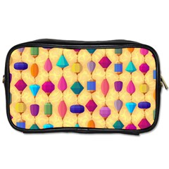 Colorful Background Stones Jewels Toiletries Bag (two Sides)