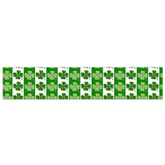 Clover Leaf Shamrock St Patricks Day Small Flano Scarf