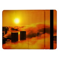 City Sun Clouds Smog Sky Yellow Samsung Galaxy Tab Pro 12 2  Flip Case