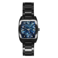 Funny Galaxy Tiger Pattern Stainless Steel Barrel Watch by tarastyle