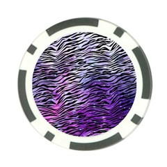 Funny Galaxy Tiger Pattern Poker Chip Card Guard