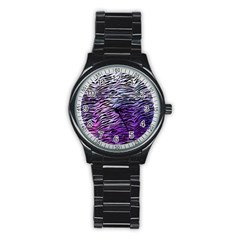 Funny Galaxy Tiger Pattern Stainless Steel Round Watch by tarastyle