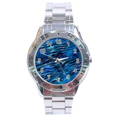 Funny Galaxy Tiger Pattern Stainless Steel Analogue Watch