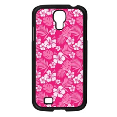 Colorful Tropical Hibiscus Pattern Samsung Galaxy S4 I9500/ I9505 Case (black) by tarastyle