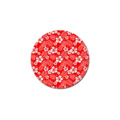 Colorful Tropical Hibiscus Pattern Golf Ball Marker (10 Pack)