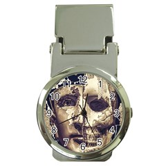 Creepy Photo Collage Artwork Money Clip Watches