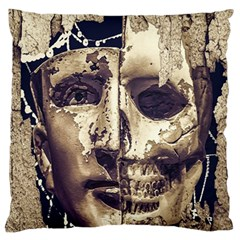 Creepy Photo Collage Artwork Large Flano Cushion Case (one Side) by dflcprintsclothing