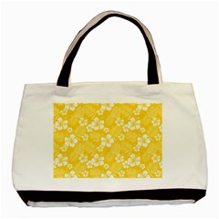 Colorful Tropical Hibiscus Pattern Basic Tote Bag (two Sides)