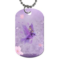 Fairy With Fantasy Bird Dog Tag (two Sides)