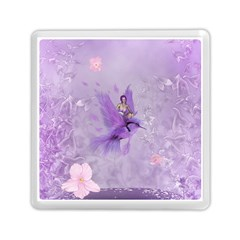 Fairy With Fantasy Bird Memory Card Reader (square) by FantasyWorld7