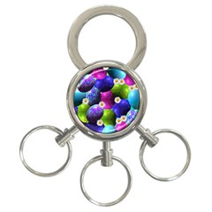 Eggs Happy Easter 3 Ring Key Chains
