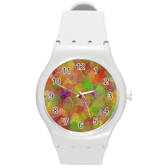 Easter Egg Colorful Texture Round Plastic Sport Watch (m)