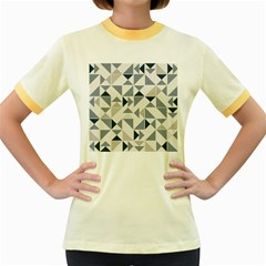 Geometric Women s Fitted Ringer T Shirt