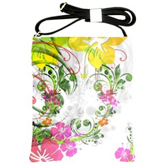 Flowers Floral Shoulder Sling Bag