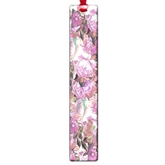 Romantic Pink Flowers Large Book Marks by retrotoomoderndesigns
