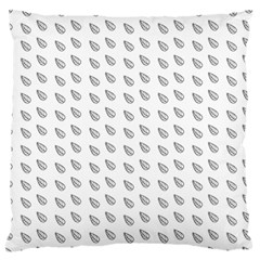 Leaves Plot Background Large Flano Cushion Case (two Sides) by Mariart