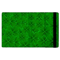 Leaf Clover Background Shamrock Apple Ipad 2 Flip Case