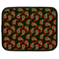 Pattern Abstract Paisley Swirls Netbook Case (xl) by AnjaniArt