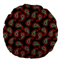 Pattern Abstract Paisley Swirls Large 18  Premium Flano Round Cushions