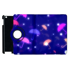 Umbrella Bokeh Background Scrapbook Apple Ipad 2 Flip 360 Case by Alisyart