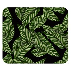 Leaves Painting Black Background Double Sided Flano Blanket (small)