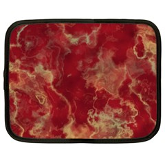 Marble Red Yellow Background Netbook Case (xl)