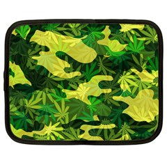 Marijuana Camouflage Cannabis Drug Netbook Case (large)