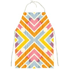 Line Pattern Cross Print Repeat Full Print Aprons