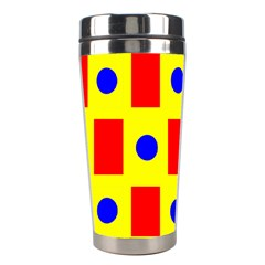 Pattern Circle Plaid Stainless Steel Travel Tumblers