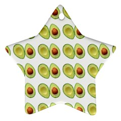 Pattern Avocado Green Fruit Ornament (star)