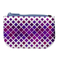 Pattern Square Purple Horizontal Large Coin Purse