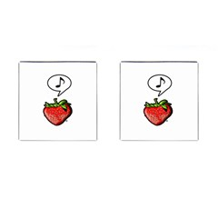 Whistling Strawberry   By Larenard Studios Cufflinks (square)