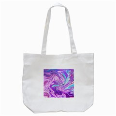 Pattern Texture Art Rainbow Tote Bag (white)
