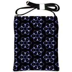 Purple Circle Wallpaper Shoulder Sling Bag