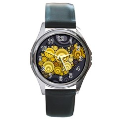 Retro Color Style Round Metal Watch