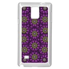 Ornate Heavy Metal Stars In Decorative Bloom Samsung Galaxy Note 4 Case (white) by pepitasart
