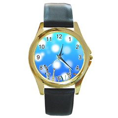 Sea Underwater Life Fish Round Gold Metal Watch