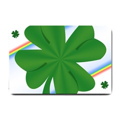 Shamrock Clover Saint Patrick Leaves Small Doormat