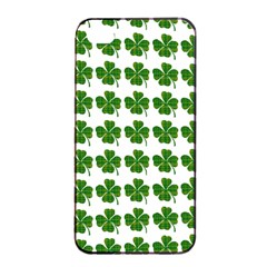 Shamrocks Clover Green Leaf Apple Iphone 4/4s Seamless Case (black)