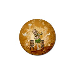 Cute Littel Island Girl Golf Ball Marker (10 Pack) by FantasyWorld7
