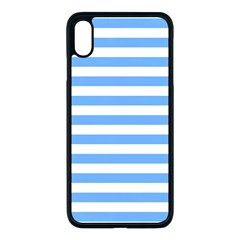 Blue Stripes Apple Iphone Xs Max Seamless Case (black)