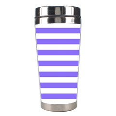 Lilac Purple Stripes Stainless Steel Travel Tumblers