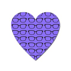 Nerdy Glasses Purple Heart Magnet by snowwhitegirl