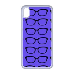Nerdy Glasses Purple Apple Iphone Xr Seamless Case (white)