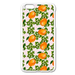Citrus Tropical Orange Pink Apple Iphone 6 Plus/6s Plus Enamel White Case