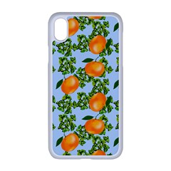 Citrus Tropical Orange Blue Apple Iphone Xr Seamless Case (white)