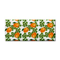 Citrus Tropical Orange White Hand Towel